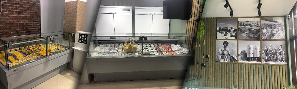 Зал магазина сыров «Unagrande»